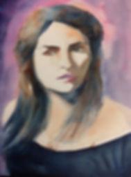Portrait actrice aquarelle
