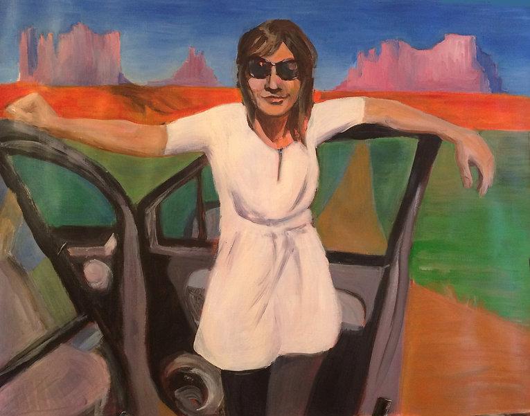 Auto portrait acrylique