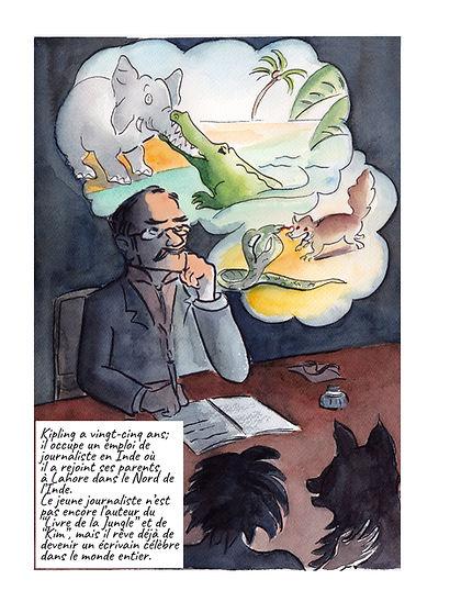 Illustration Vie de Kipling