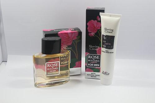 Crème rasage à l'eau de rose pour homme
