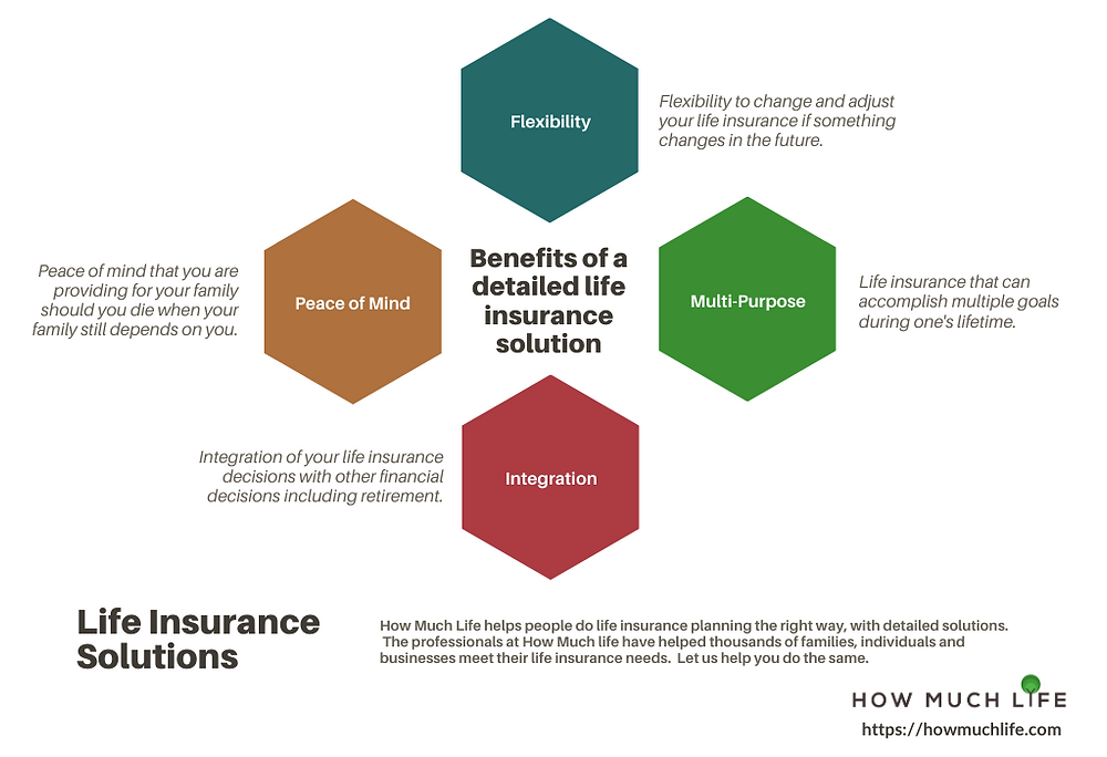 Benefits of a Detailed Life Insurance Solution Infographic
