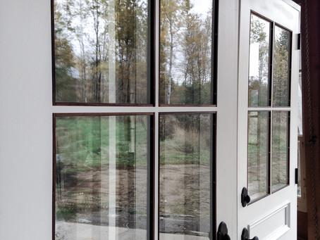 Porte double bordure Noyer noir