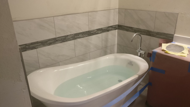Tub with matching tile