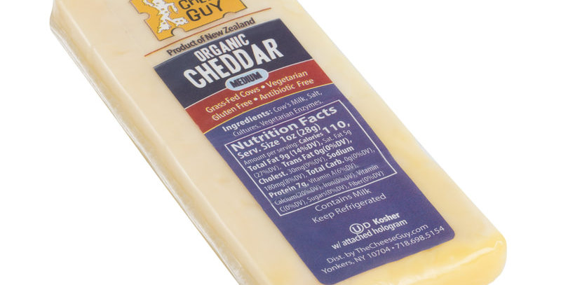 Cheese Guy Organic Medium Cheddar