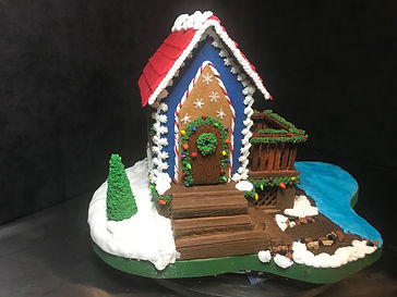 Lakeside Cabin Christmas