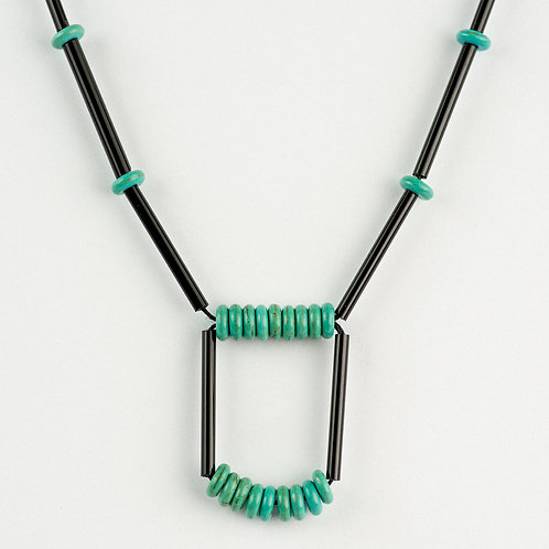 Geo Square Turquoise Necklace