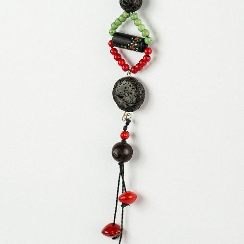 Black Lava Boho Necklace