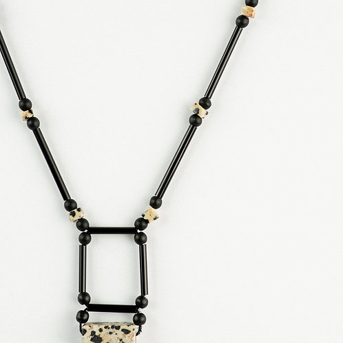 Dalmatian Square Necklace