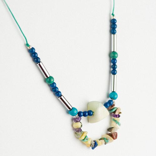 Blue Tones Statement Necklace