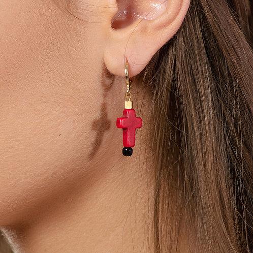Strawberry Cross Earrings
