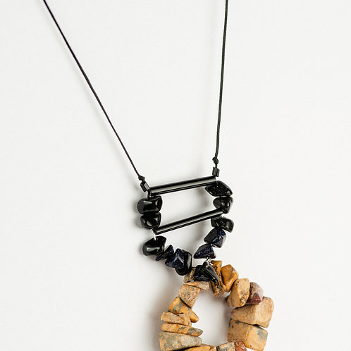 Black and Beige Necklace