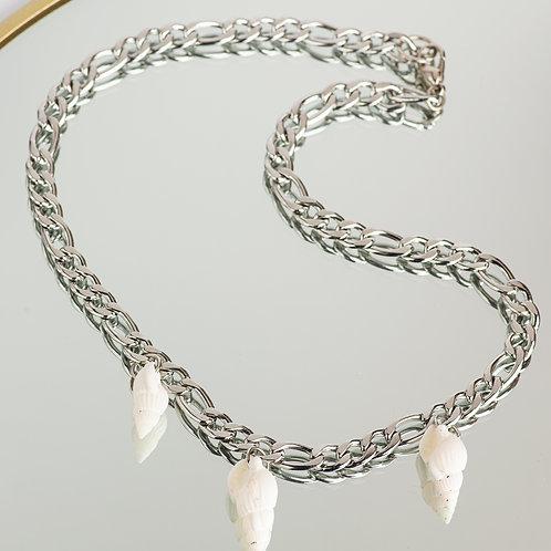Figaro Seashell Silver Chain