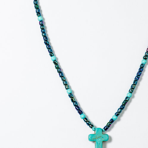 Beaded Cross Necklace