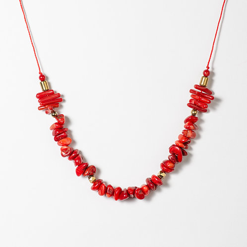 Red Passion Coral Necklace