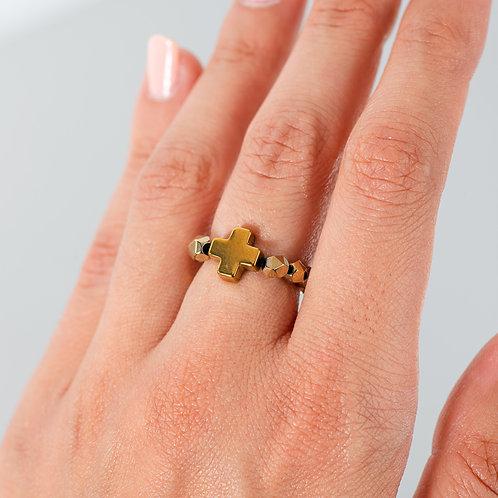 Golden Cross Ring