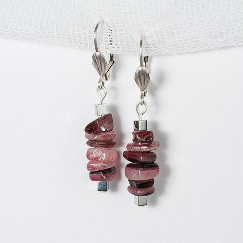 Rasberry Metallic Earrings