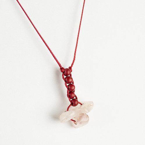 Quartz Flower Necklace