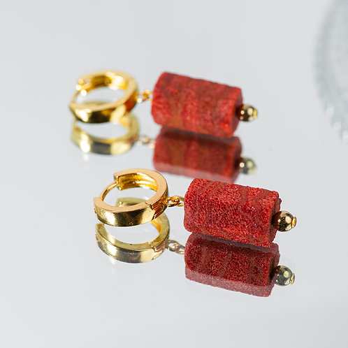 Premium Red Coral Earrings