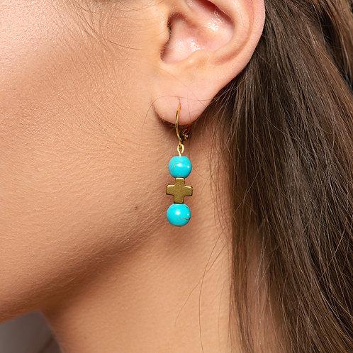 Lefkada Cross Earrings