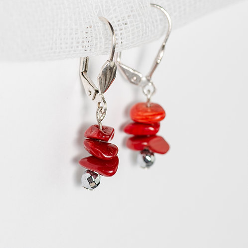 Cherry Metallic Earrings