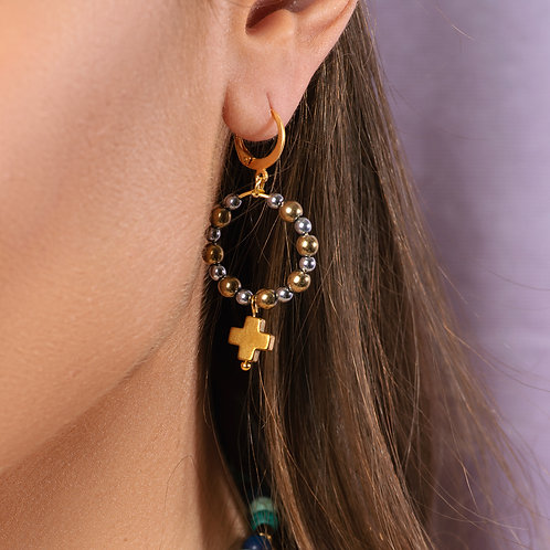 Lauretta Cross Earrings