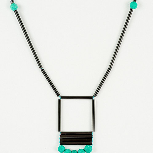 Turquoise Lava Necklace