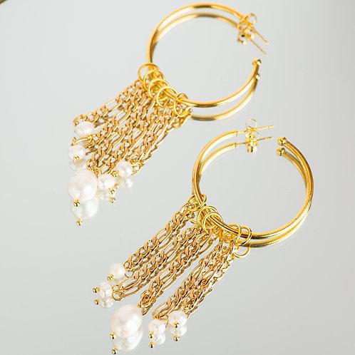 Delos Pearl Earrings
