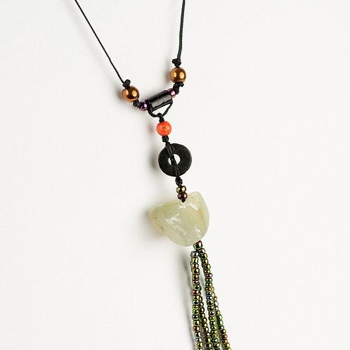 Nephrite Tassel Necklace