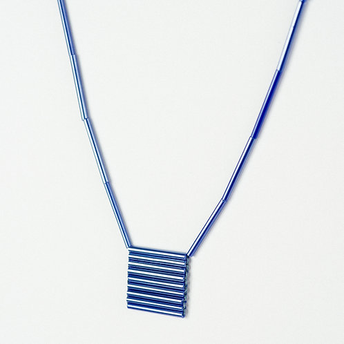 Blue Geo Necklace