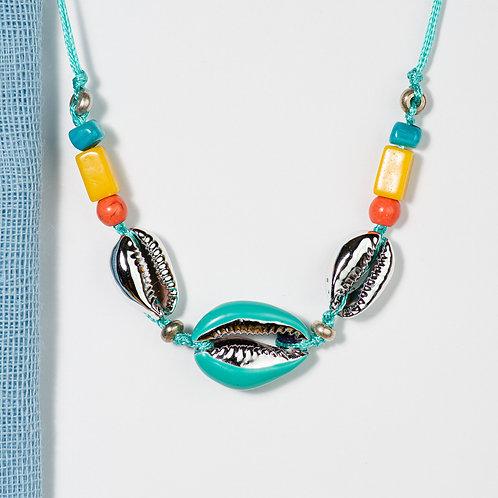 Colorful Aqua Seashell necklace