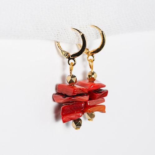 Firestorm Golden Earrings