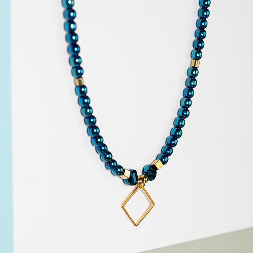 Royal Blue Metallics Necklace