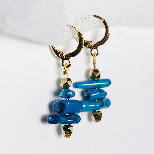 Lochness Golden Earrings