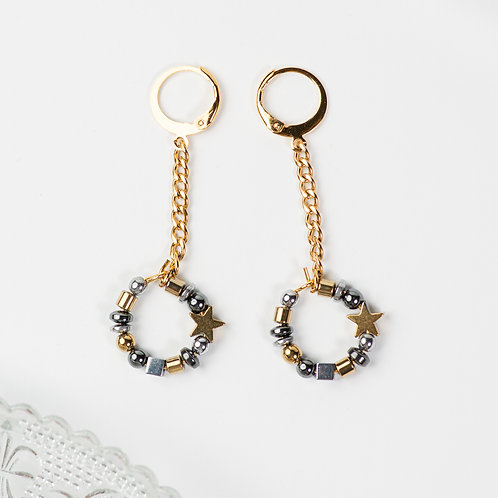 Amelia Metallic Chain Earrings