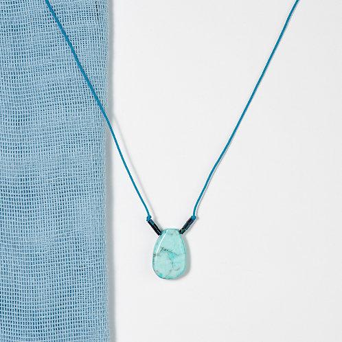 Aqua Teardrop Necklace