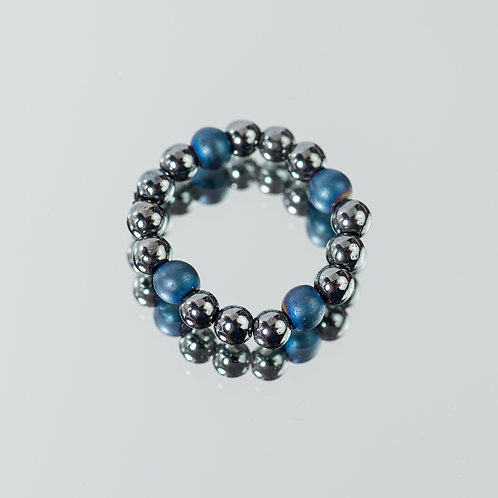 Granite Blue Hematite Ring