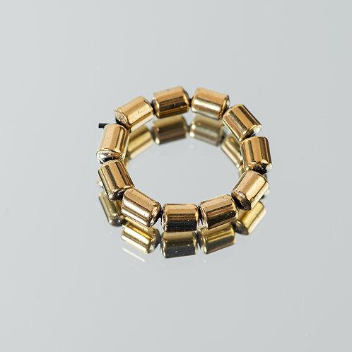 Cylinder Hematite Ring