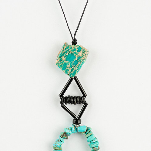 Geometrical Marble Necklace