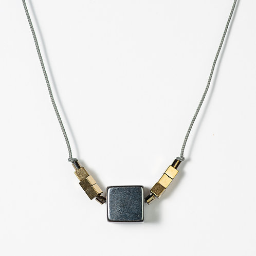 The Metallic Cube Necklace