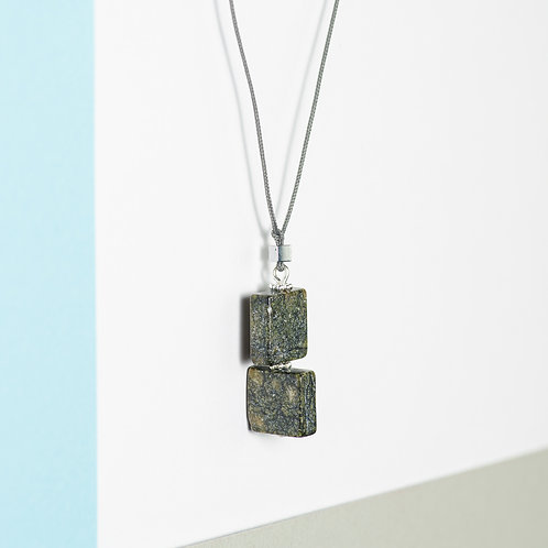 Rotating Squares Necklace
