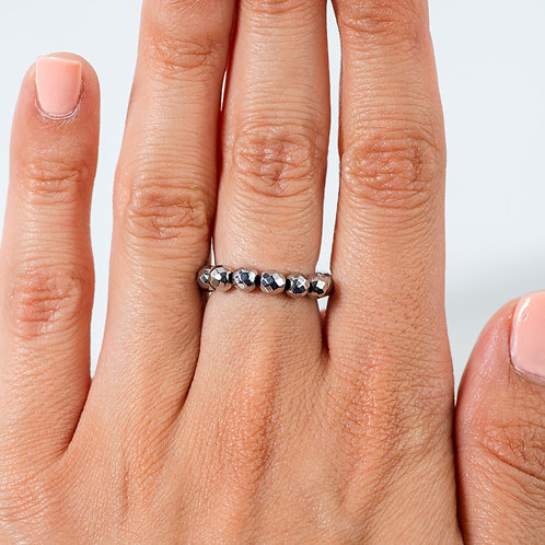 Sparkling Silver Hematite Ring