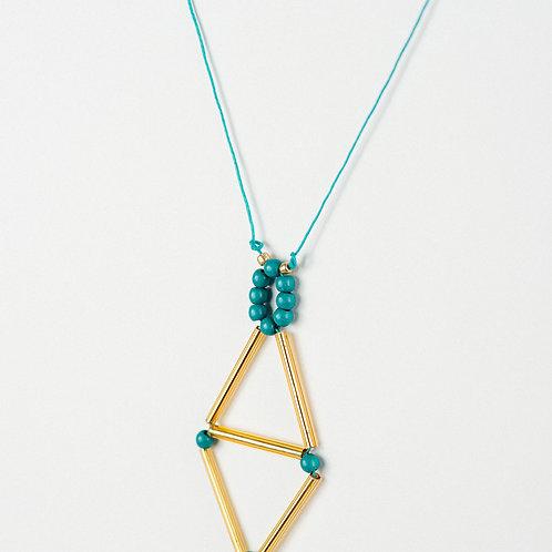 Golden Rhomboid Necklace