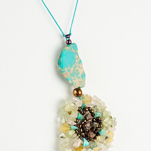Turquoise Marble Necklace
