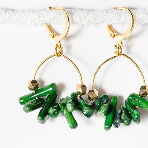 Lime Summer Hoop Earrings