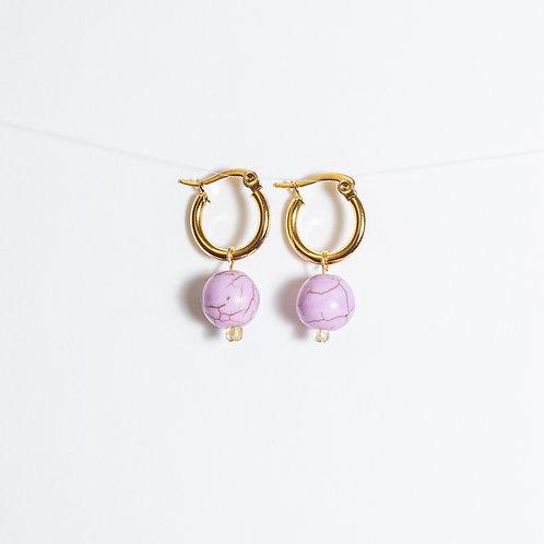 Purple Love Hoop Earrings