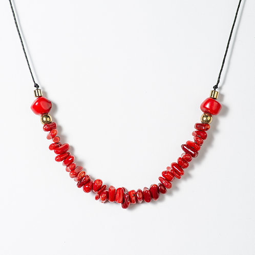 Coral Layering Necklace