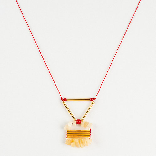 Triangle Geo Earth Necklace