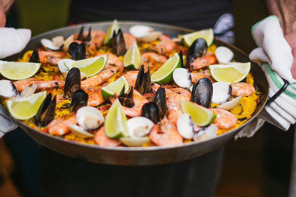 Seafood Paella usually comes in sharable portions to be enjoyed with family and friends.