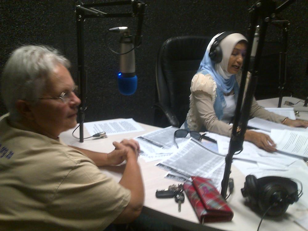 Lynne being interviewed on Alansaar Radio.jpg