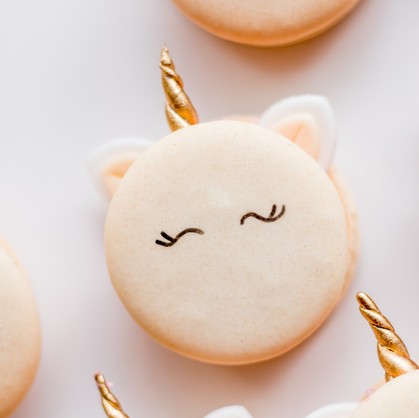 Unicorn themed macarons- customized